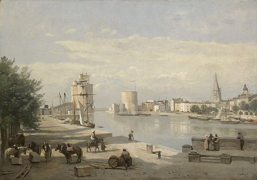 The_Harbor_of_La_Rochelle_by_Jean-Baptiste-Camille_Corot